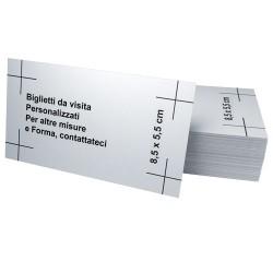 Biglietti da visita, Stampa tipografica Frosinone. Per altre misure e formati contattateci al 0775 290145