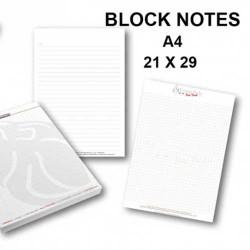 Stampa Block Notes formato A4 personalizzati. Tipografia Frosinone. Per alti quantitativi contattateci al 0775 290145