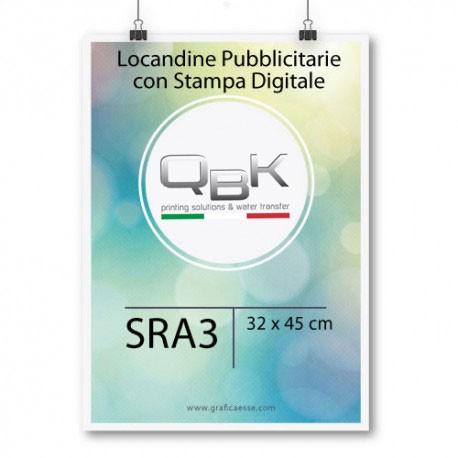 Stampa Digitale Frosinone. Stampa locandine in digitale SRA3 misure 32x45. Per alti quantitativi contattateci 0775 290145