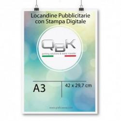 Stampa Digitale locandine tipografia Frosinone. Locandine con stampa digitale misure A3 42x29. Telefono 0775 290145