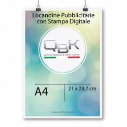 Stampa Digitale Frosinone. Tipografia Frosinone Stampa locandine in digitale A4 misure 21x29.